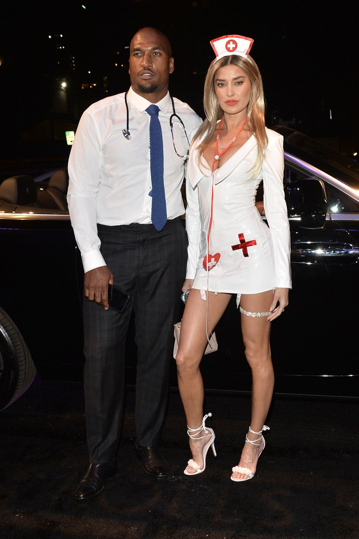 Nicole Williams and Larry English Arrive to Treats Magazine Halloween Party in LA