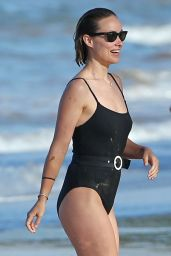 Olivia Wilde In a swimsuit at the beach in Hawaii
