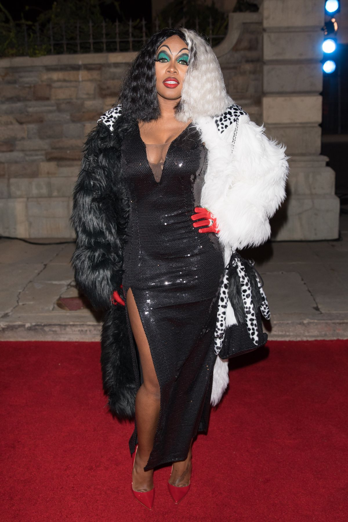 Remy Ms Is seen in her costume at Chris Brown Album release party in Universal Studios