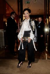 Ruth Negga Attends a party hosted by Louis Vuitton to Celebrate GingerNutz in Vogue