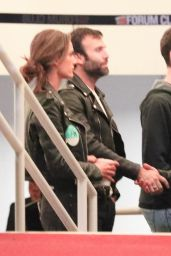 Alessandra Ambrosio and Jamie Mazur are spotted at The Forum in Inglewood