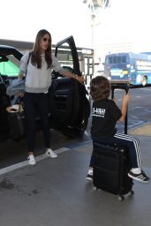 Alessandra Ambrosio Arrives at LAX airport in Los Angeles, California
