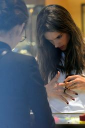 Alessandra Ambrosio Checks out jewelry at Cartier in Beverly Hills