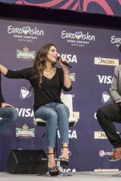 Alexandra Maquet At 2017 Eurovision Song Contest by Fan Meeting & Greet in Kiev, Ukraine - 2017