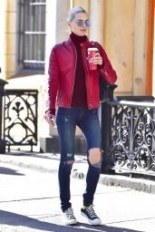 Andreja Pejic Is pictured out on a stroll in New York City