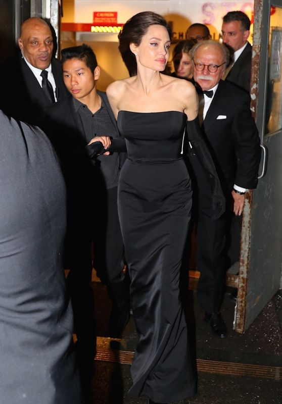 Angelina Jolie Departs Cipriani Wall St. in New York City