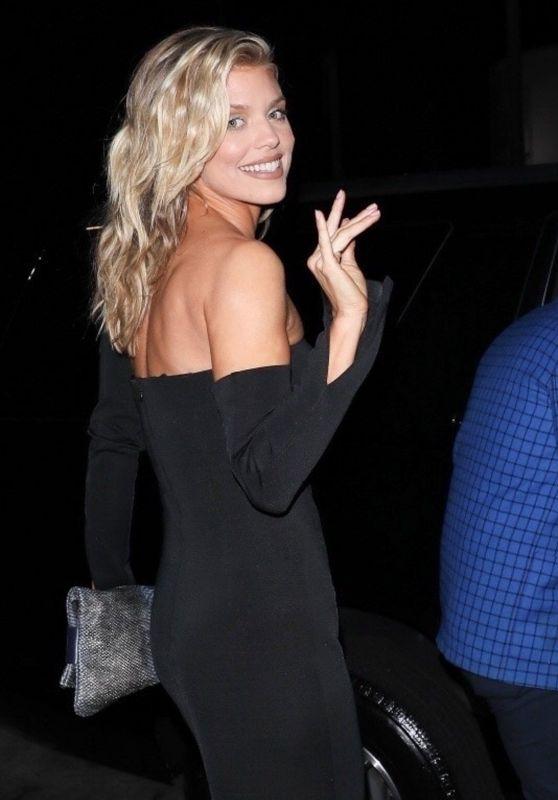 AnnaLynne McCord Spotted for a date night at Cleo in West Hollywood