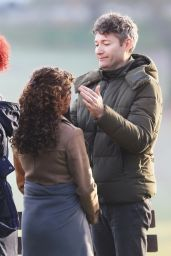 Antonia Thomas and Beau Garrett are seen filming scenes for The Good Doctor. in Vancouver