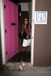 Arianny Celeste Arrives to Look Los Angeles showroom for a fitting for a red carpet event, Los Angeles