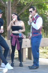 Ariel Winter Enjoys some ice cream while out with Levi Meaden at Disneyland in Anaheim