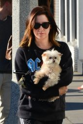 Ashley Tisdale Out with her dog in Venice Beach