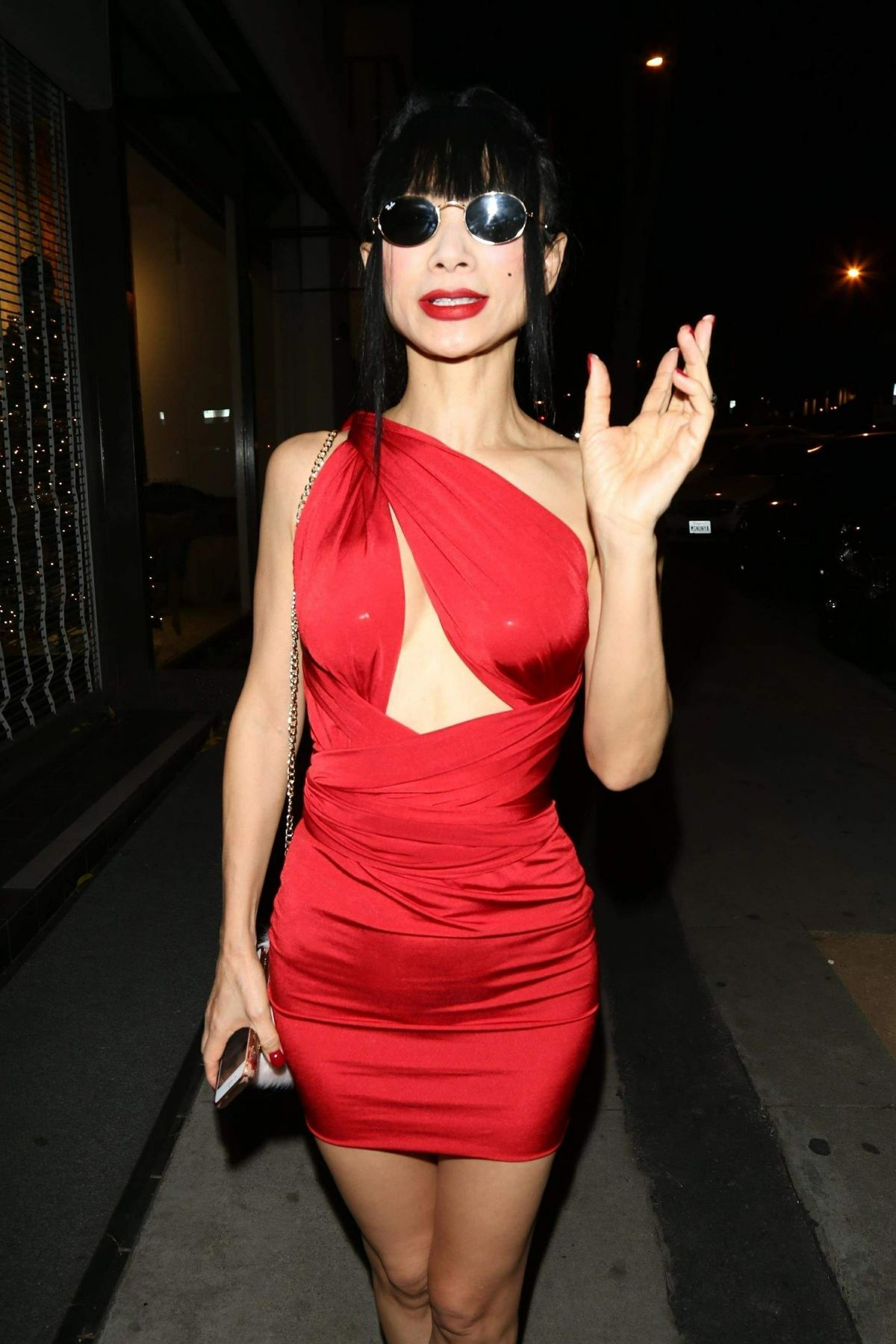 Bai Ling Outside Craig's Restaurant in West Hollywood ...