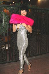 Bai Ling Poses for the camera as she leaves The Hollywood