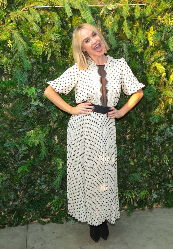 Becca Tobin Seen attending The LadyGang Podcast at Wanderlust in Los Angeles, California