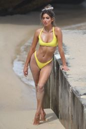 Bella Lucia In Bikini Pictured on set of a photoshoot on Bronte Beach