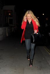 Bianca Gascoigne At The Cannaught Hotel,London