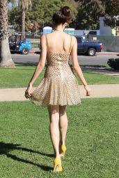 Blanca Blanco At a photoshoot at a park in Los Angeles