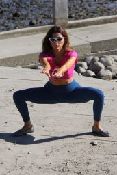 Blanca Blanco Gets in a morning workout in Malibu