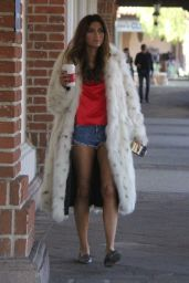 Blanca Blanco Stops for a morning coffee in Beverly Hills, US