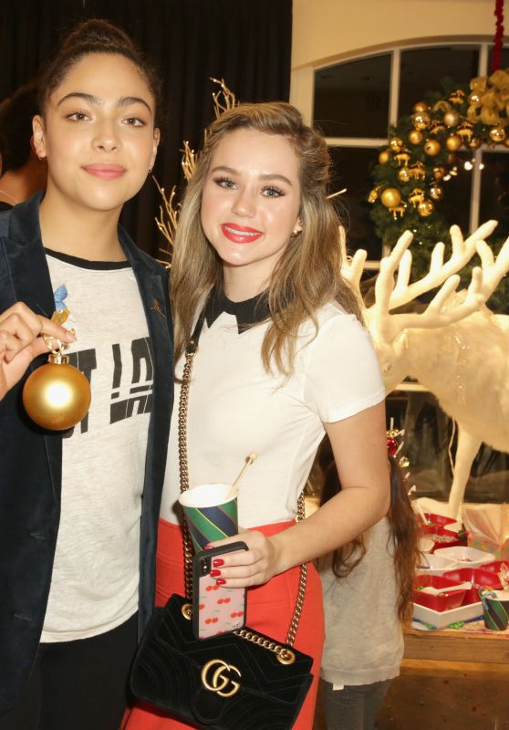 Brec Bassinger At Brooks Brothers holiday celebration with St Jude Children