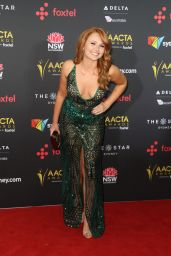 Brooke Nichole Lee At AACTA Awards Ceremony Red Carpet at the Star Casino in Sydney, Australia