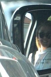 Brooklyn Beckham and his girlfriend Chloe Moretz make out in the car in Studio City, California