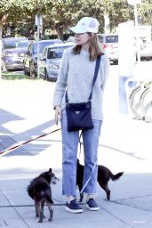 Calista Flockhart Drops her dogs off at a pet boutique in Brentwood