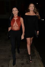 Cally Jane Beech Out in London With Friend