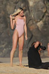Candice Swanepoel On the beach of the Island of Fernando De Noronha, Brazil
