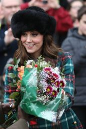 Catherine Duchess of Cambridge At Church of St Mary Magdalene in King