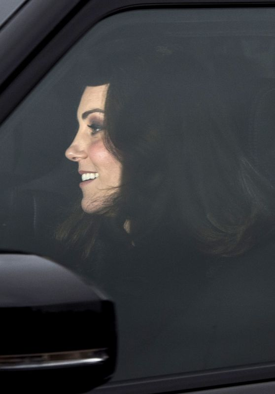 Catherine, Duchess of Cambridge attends a Christmas lunch for the extended Royal Family at Buckingham Palace in London