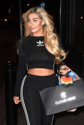 Chloe Ferry Leaving Dreamgirlz Hair Extension Boutique in the Jesmond area of Newcastle