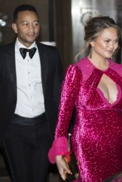 Chrissy Teigen and John Legend leaves at Nobel Peace Prize banquet in Oslo