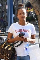 Christina Milian Steps out with her cute daughter Violet in Westwood