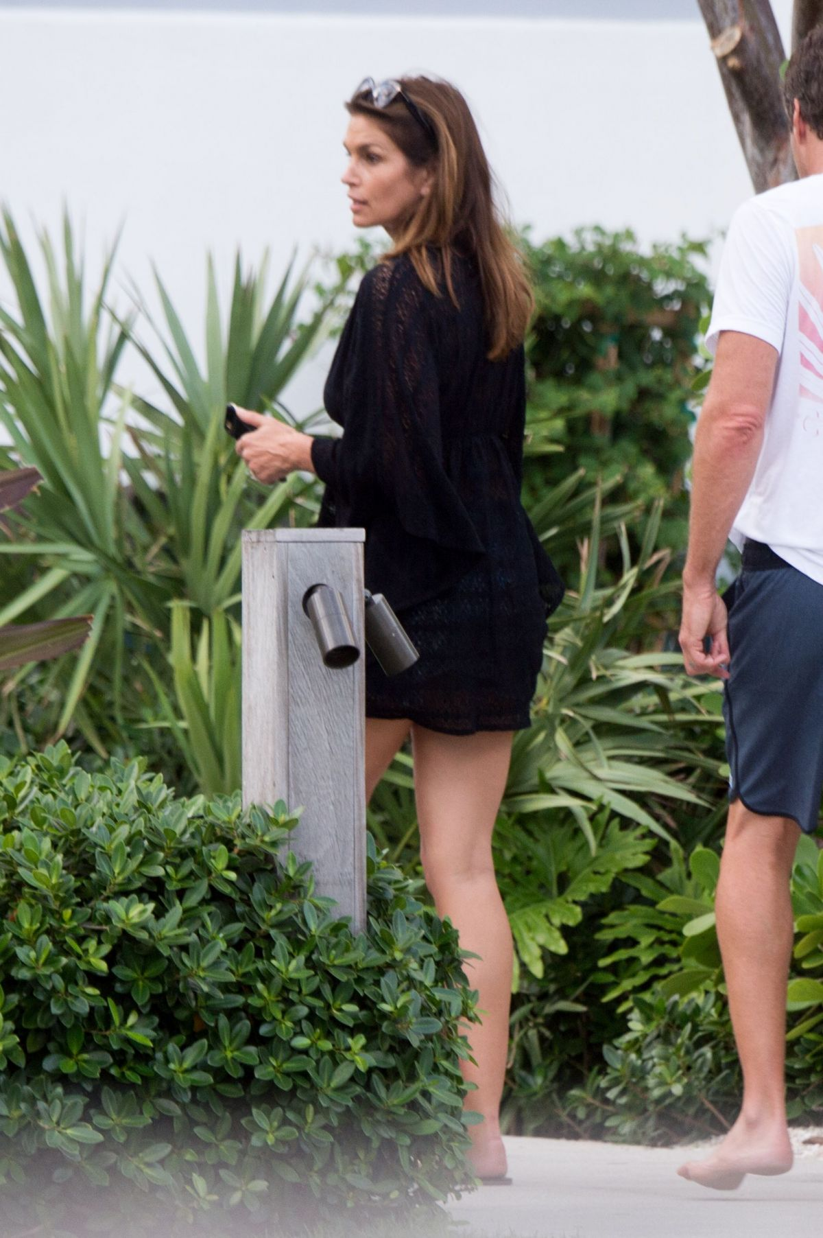 92fb5b3afc Cindy Crawford and husband Rande Gerber are seen together in Miami Beach