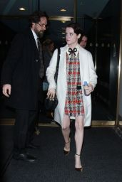 Claire Foy At the Today Show to talk about new season of The Crown in New York