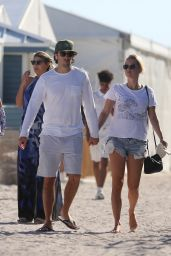 Claire Holt On a beach in Miami, Florida