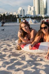 Claudia Romani and Melissa Lori playing on South Beach in Miami
