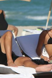 Constanza Caracciolo At the beach in Miami