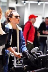 Daisy Ridley Arrives at Heathrow airport in London