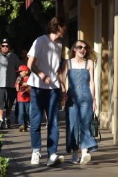 Dakota Fanning Enjoys a day out with Jamie Strachan in LA