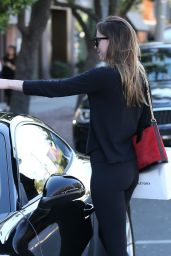 Dakota Johnson Stops by Alfred Coffee and Violet Grey in West Hollywood