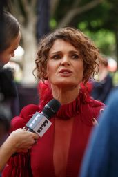 Danielle Cormack At AACTA Awards Ceremony Red Carpet at the Star Casino in Sydney, Australia
