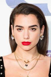 Dua Lipa Attends the Capital FM Jingle Bell Ball with Coca-Cola at The O2 Arena in London, England