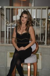 "Elisabetta Canalis At TV show ""Le spose di Costantino photocall in Milan"