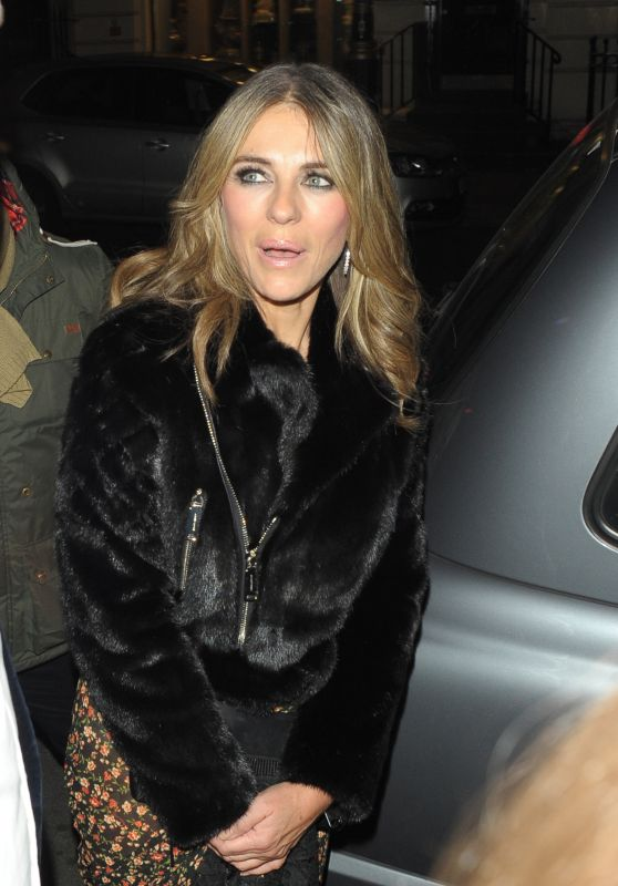 Elizabeth Hurley Seen at Brilliant is Beautiful Benefitting Artist for Peace and Justice
