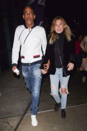 Ellen Pompeo and Chris Ivery enjoy a night out at at the LA Lakers versus the Houston Rockets game