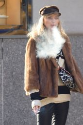 Elsa Hosk Is pictured Having a Smoke While Running Errands in New York City