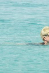 Emma Forbes Swimming outside Sandy Lane Hotel in Barbados