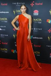 Erin Holland At AACTA Awards Ceremony Red Carpet at the Star Casino in Sydney, Australia